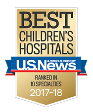 U.S.News & World Report Best Children's Hospitals award